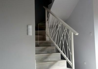 balustrada nowoczesna biala grudziadz