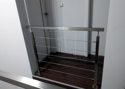 balustrada stalowa z linek