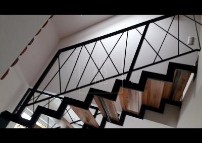 schody metalowe drewniane loft