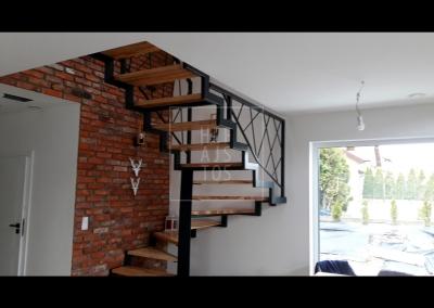 schody stalowe w stylu LOFT